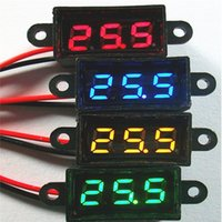 Wholesale Cheap High Quality New Waterproof DC V Mini Digital LED Voltmeter Volt Meter F V Car Moto