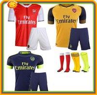 Wholesale DHL Mixed buy Arsenal kit jersey T shirt shorts socks Jerseys WILSHERE OZIL WALCOTT RAMSEY ALEXIS GIROUD Soccer Jersey