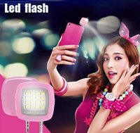 Wholesale Mobile Phone Camera External Flash LED Fill Light Night Using Selfie Enhancing Flash Light for iPhone Samsung