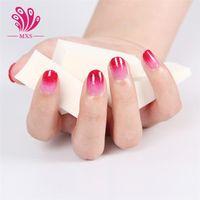 art puff - Nail Art Sponge Stamp Stamping Polish Template Transfer Pedicure DIY Manicure puffs Sponge Nail Art Kit