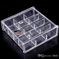 Wholesale Acrylic Jewelry Ring Earrings Necklace Organizer Grids SF Makeup Box Case