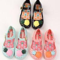 bb oem - OEM Mini Melissa Furadinha VII BB Mary Jane Shoe Soft PVC Girls Sandals Hollow Sweet Smell Pineapple Kids Shoes US Size