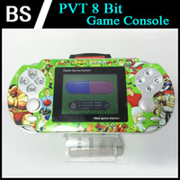 Wholesale 10pcs PVT Game Player Portable Handheld inch bit PVT Digital Pocket Game Players Video game Console Xmas Gifts