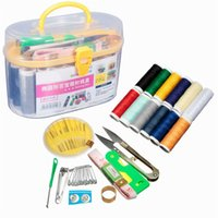 best sewing kit - Best Promotion Multifunction Portable Sewing Kit Threader Needle Measure Tape Scissor Thimble Box Houshold