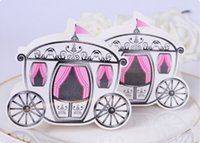 Wholesale Cinderella Enchanted Carriage Marriage Box Wedding Favor Gift boxes Candy box