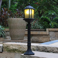 american exteriors - Lawn lamps American classic style cm height antirust exterior lawn lamp LED lamp landscape garden lights for villa hotel park aisle