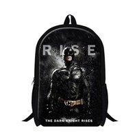 batman book bag - Children D Cartoon Batman Printing Backpacks Superman School Bags For Teenagers Mens Outdoor Travel Shoulder Bags Kids Book Bag