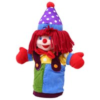 Wholesale Super Cute Soft Plush Circus Clown Hand Puppet Toys Handmade Plush Toy Cosplay Props Education Birthday Gift Dolls For Girls