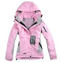 Wholesale Women winter outdoor jacket in1 waterproof windproof breathable mountaineering ski jacket