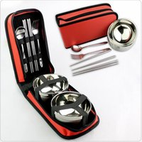 balloons equipment - Outdoor utensils dishes stainless steel equipment supplies portable balloon camping double the picnic bag travel travel tableware su