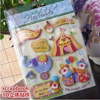 baby scrapbooking paper - Baby Animal Circus Shape D Adhesive Stickers Handmade Decorating for DIY Photo Album Scrapbooking Kit baby shower decoration