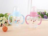 Wholesale HOT New Baby bottles with handles Newborn standard caliber essential pocket bottle of breast milk