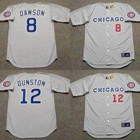 andre baseball - Cheap SHAWON DUNSTON ANDRE DAWSON Chicago Cubs Throwback Baseball Jersey grey stitched