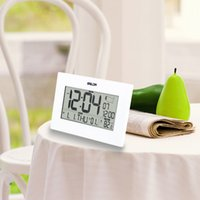 atomic clock - Stylish Digital Desktop Atomic Alarm Clock Time Calendar Temperature Display Time Zone Map
