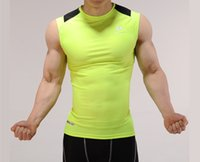 anti sunshine - Magnetic stretchy custom fit contrast color quick dry activewear workout vest with sunshine handsome casual sports style