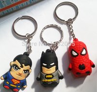 Wholesale new mens boots New Mixed Superhero Superman Spider Man Batman D Silicone Key Chain CM For