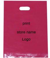 Personalizar Logotipo Bolsas de plástico Imprimir Marca Marca Etiqueta Negro Moda Joyería Maquillaje Zapato Ropa interior Sombrero Ropa de embalaje Bolsas de regalo