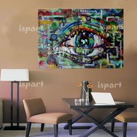 art painting ideas - modern abstract art painting of eye wall art canvas pop art hand painted ideas cuadros decoracion artwork for bar office
