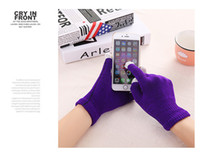 Wholesale Warm autumn and winter men and women knitting wool gloves touch gloves touch screen smart phone