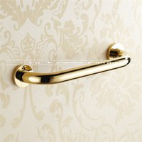 bath safety handle - European gold full copper bathroom arm rest safety anti slip handle antique toilet bath toilet handle