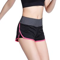 Wholesale Women Sport Running Shorts Elastic Waist Woman Quick Dry Fitness Shorts Casual Running Yoga Short Pants