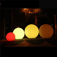 Wholesale Diameter cm waterproof RGB colors changing pe plastic battery charge led beach ball via remote control with CE ROHS UL list