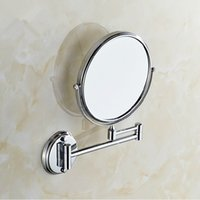 Wholesale 2016 Silver Compact Mirrors Wall Mounted Bathroom Mirror Double sided Cosmetic Mirror Double Folding Magnifying Glass Wedding Party Gift
