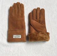 antifreeze brands - NEW Famous Brand Men Women Sheepskin leather gloves female winter warm fashion Windproof Antifreeze gloves