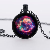 american universe - Cassiopeia Nebula Necklace Galaxy necklace Space universe pendant Necklace Vintage Corrente de prata Skyrim Necklace my orders
