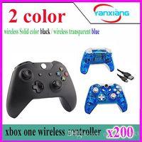 Acheter Joystick xbox-contrôleur 200pcs Wireless / Joystick / joypad pour xbox une en couleur noir / bleu transparent YX-one-01