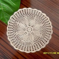 Cheap Free shipping handmade hook needle knitted zakka pad circle mat towel fashion crochet tray placemat heat insulation