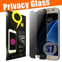 Cheap Privacy Tempered Glass For S7 iPhone 6 6s Note 5 Screen Protector LCD Anti-Spy Film Screen Guard Cover Shield for Samsung S6  S5  Note 3 4