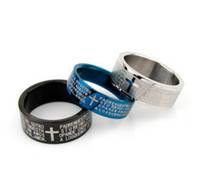 Wholesale Stainless Steel Rings stainless steel jewelry white black colorful gold blue colors can choose