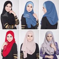 Wholesale plain muslim fashion hijab Brand Woman rhinestone Hijab Women s Fashion Chiffon Hijab Scarves