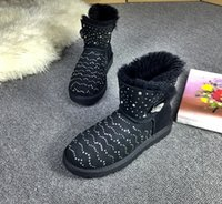 belle boots - Winter white boots snow boots the outdoor leisure short boots the new mini belle bowknot of black