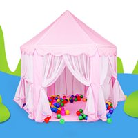 Cheap Hot Portable Kids Play Tents Ultralarge Children Beach Tent Baby Fence Girls Princess Castle Indoor Outdoor Toys House Playpens VE0071