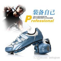 Wholesale New Cycling Shoes Blue Orange Yellow Men Outdoor Road Bike Nylon and TPU Material MTB Shoes Ciclismo Shoes