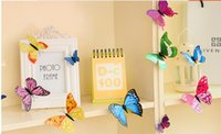 Wholesale In new style d wall stickers decoration home decoration butterfly butterfly pattern on the wall