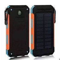 Wholesale New Mah Waterproof Solar Charger LED Llight Ports Power Bank Portable powerbank Charger For IPhone Samsung With Compass