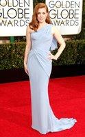 adams carpets - Vintage Amy Adams nd Golden Globe Awards Celebrity Dresses One Shoulder Ruched Sheath Chiffon Red Carpet Gowns Long Evening Dress Y777