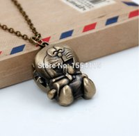 antique glass perfume bottles - New Arrival Cartoon Jingle Cats Sweater Chain Necklace Fashion Jewelry Perfume Bottle Pocket Watches Korea style