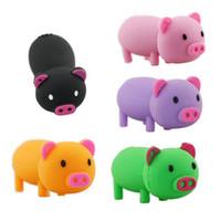 Wholesale PVC Cute Pig USB Disk Flash Drives Memory USB Real GB GB GB GB Colorful USB Disks