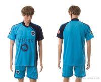 Wholesale Kansas City Wizards soccer jersey football uniform home away kit men kits man jerseys uniforms men set blue sets