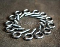 Wholesale 4000pcs mix size Eye HOOK Craft supply Silver finish hook Key hook Screw Bail