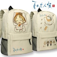 backpack teacher book - Anime Natsume s Book of Friends Backpack Oxford Khaki cat teacher Schoolbag Fashion Travel bag Shoulders Bag No
