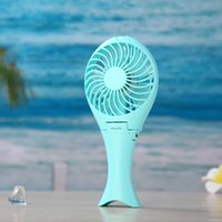 Wholesale Factory Price Summer Cooling fan portable Mini usb cooling fans Vanes Speeds Palm Leaf Fan with18650 Battery rechargeable fan