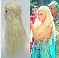 Wholesale Fire and Ice Daenerys Targaryen waved hair Long Weaving Braid Costume Cosplay Wigs