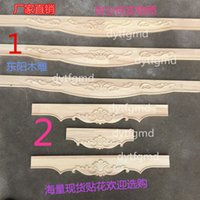 Wholesale Dongyang wood furniture lip Chinese decoration European cross flower factory direct custom wood decals