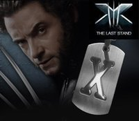 best dog gifts - 2016 Hot Sales X Men Stainless Steel Letter Necklace Dog Tag Pendant Necklace For Men Class Best Gifts For Youngersters pendant Necklace