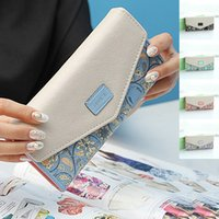 Wholesale 2016 New Chinese National Style Women Wallets Long Luxury Women Purses Wallet Fashion Portefeuille Femme PU Leather Lady Cluth